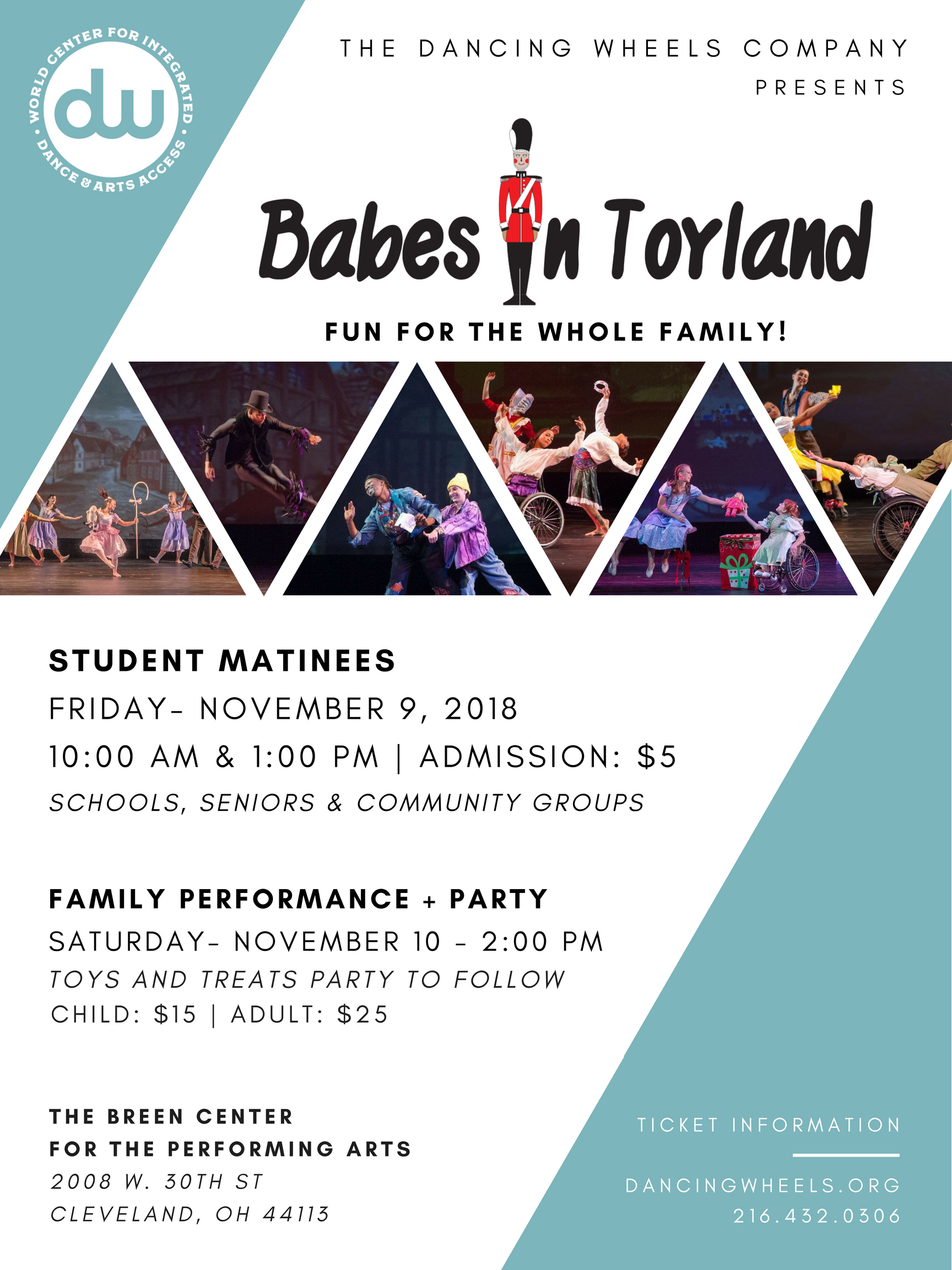 The Dancing Wheels Company School Presents Babes In Toyland 10am Matinee Show